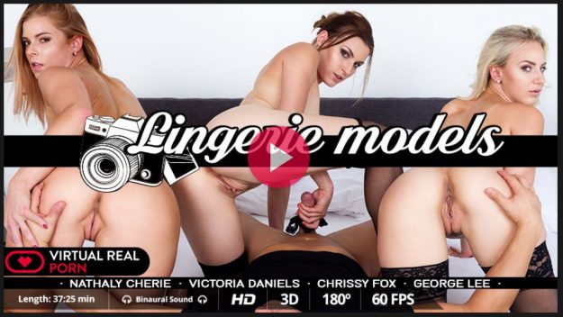Best VR Orgy withThree Beautiful Lingerie Models