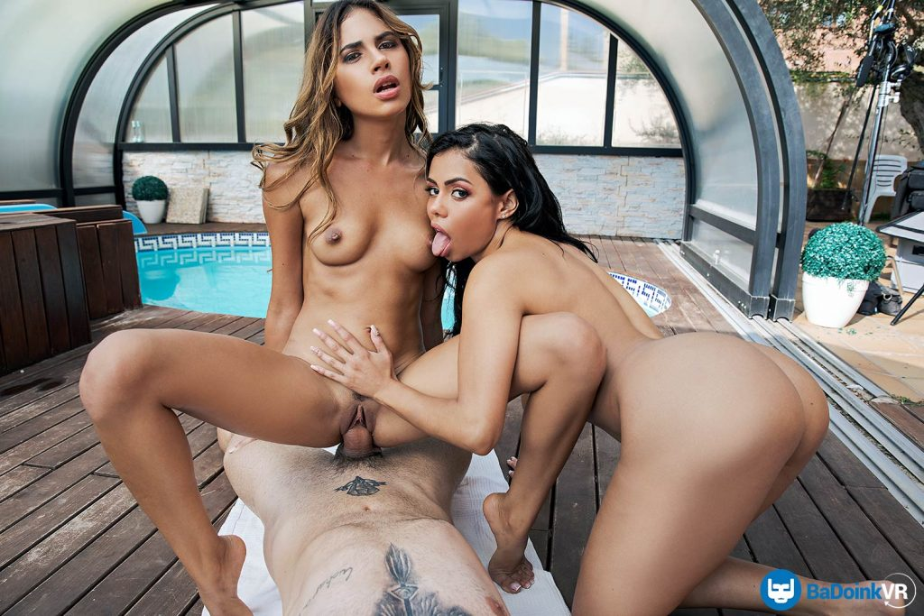 Latina vr sex threesome for Oculus