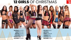 VirtualRealPorn 12 Girls of Christmas orgy