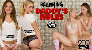 WankzVR Breaking Daddy's Rules vr poster