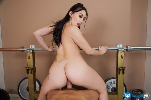 girl riding cock on gym equipment