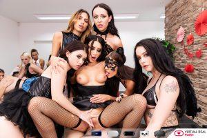 six girl vr porn orgy