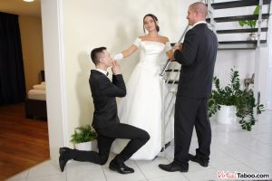 VirtualTaboo wedding day sex threesome