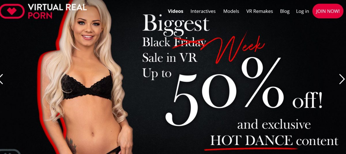 VirtualRealPorn Black Friday banner