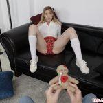 teen schoolgirl 18 yo upskirt panties knee socks