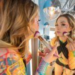 Ailee Anne applying make-up in mirror pretty girl